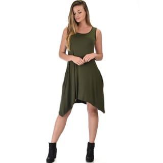 Cross-Back Sleeveless Dress with Pockets