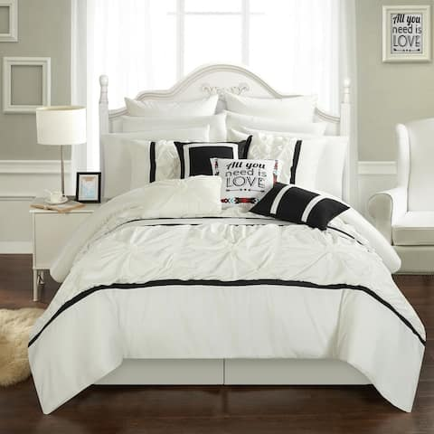 Chic Home 16-piece Legaspi White Bed In a Bag Comforter Set