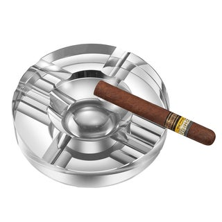 Visol Elara Round Crystal Cigar Ashtray