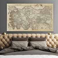 Antique Map of Turkey - Premium Gallery Wrapped Canvas