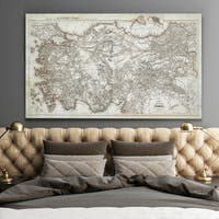 Antique Map of Turkey 2 - Premium Gallery Wrapped Canvas