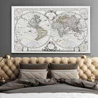 Vintage Wold Map XII Parchement - Premium Gallery Wrapped Canvas