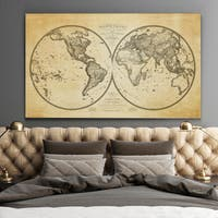 Vintage Wold Map XI Antique - Premium Gallery Wrapped Canvas