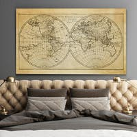Vintage Wold Map X Antique - Premium Gallery Wrapped Canvas