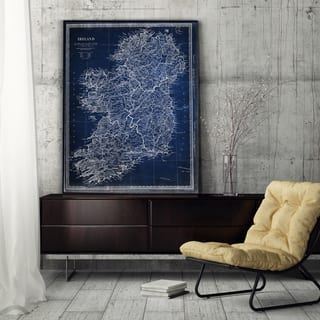 Vintage Ireland Map Blue - Premium Gallery Wrapped Canvas|https://ak1.ostkcdn.com/images/products/14490875/P21049355.jpg?impolicy=medium