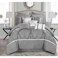 Porch & Den Siskiyou 16-piece Grey Bed-in-a-Bag Comforter Set