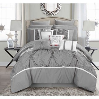 Gracewood Hollow William 16-piece Grey Bed-in-a-Bag Comforter Set