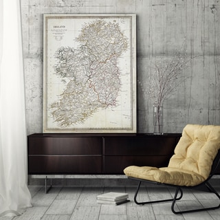 Vintage Ireland Map I - Premium Gallery Wrapped Canvas