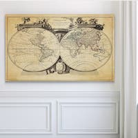 Vintage Wold Map VIII Antique - Premium Gallery Wrapped Canvas