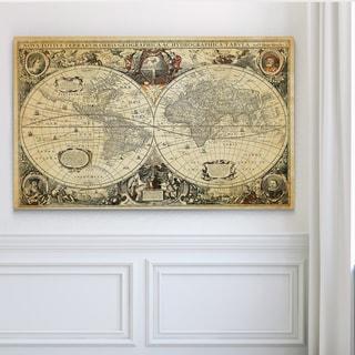 Parchment Treasue Map - Premium Gallery Wrapped Canvas