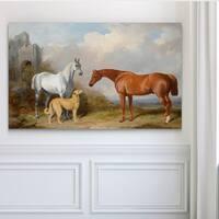 Vintage Horse Pastoral - Premium Gallery Wrapped Canvas