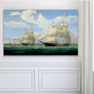 Ships at Sea III - Premium Gallery Wrapped Canvas