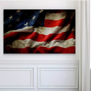 USA Waving Flag - Premium Gallery Wrapped Canvas