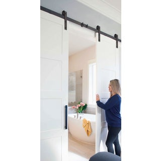 Sure-Loc Flat Black Barn Door Hardware (As Is Item)