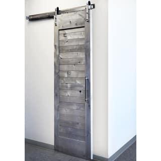 Sure-Loc Satin Nickel Barn Door Hardware Kit|https://ak1.ostkcdn.com/images/products/14490930/P21049332.jpg?impolicy=medium