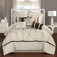 Chic Home 16-piece Legaspi Beige Bed In a Bag Comforter Set