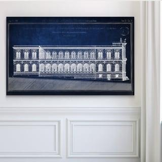 Vintage Italian Architecture Stencil III - Premium Gallery Wrapped Canvas