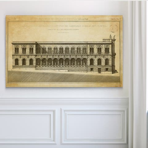 Vintage Italian Architecture Stencil II - Premium Gallery Wrapped Canvas