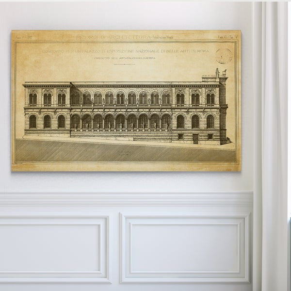 Vintage Italian Architecture Stencil II - Premium Gallery Wrapped Canvas