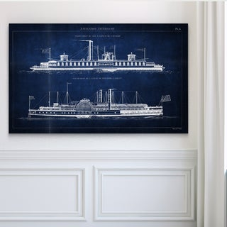 Vintage Italian Steamboat Stencil I - Premium Gallery Wrapped Canvas