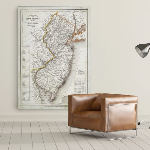 Vintage Map New Jersey I - Premium Gallery Wrapped Canvas