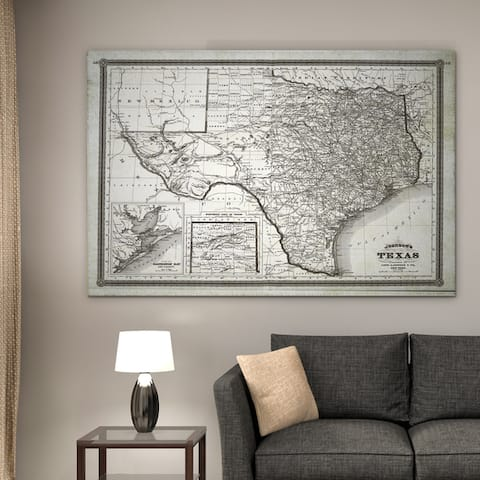 Vintage Map Texas II - Premium Gallery Wrapped Canvas