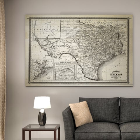 Vintage Map Texas I - Premium Gallery Wrapped Canvas