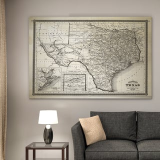 Link to Vintage Map Texas I - Premium Gallery Wrapped Canvas Similar Items in Canvas Art