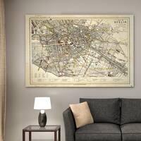 Vintage Map Berlin II - Premium Gallery Wrapped Canvas