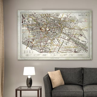 Vintage Map Berlin I - Premium Gallery Wrapped Canvas