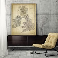 Antique Map of Ireland II - Premium Gallery Wrapped Canvas