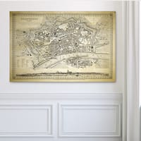 Antique Map Frankfurt II - Premium Gallery Wrapped Canvas
