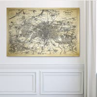 Paris Sketch Map II - Premium Gallery Wrapped Canvas
