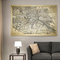 Berlin Sketch Map II - Premium Gallery Wrapped Canvas
