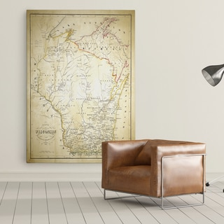 Wisconsin Sketch Map II - Premium Gallery Wrapped Canvas