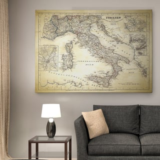 Italy Sketch Map II - Premium Gallery Wrapped Canvas