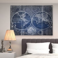 Shop washy world map gallery wrapped canvas on sale free vintage world map blue ii premium gallery wrapped canvas gumiabroncs Images