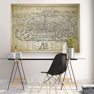 Antique Rome Roma Map - Premium Gallery Wrapped Canvas