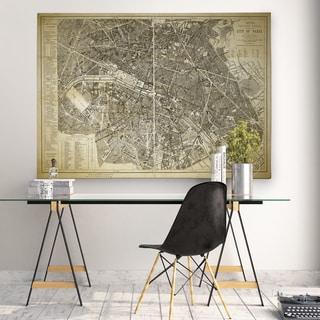 Paris Map Blue - Premium Gallery Wrapped Canvas