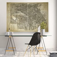 Paris Map Blue - Premium Gallery Wrapped Canvas