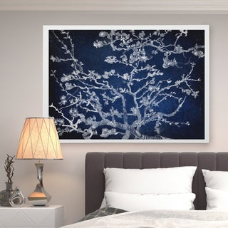 Almond Blossom Blue Shadows - Premium Gallery Wrapped Canvas