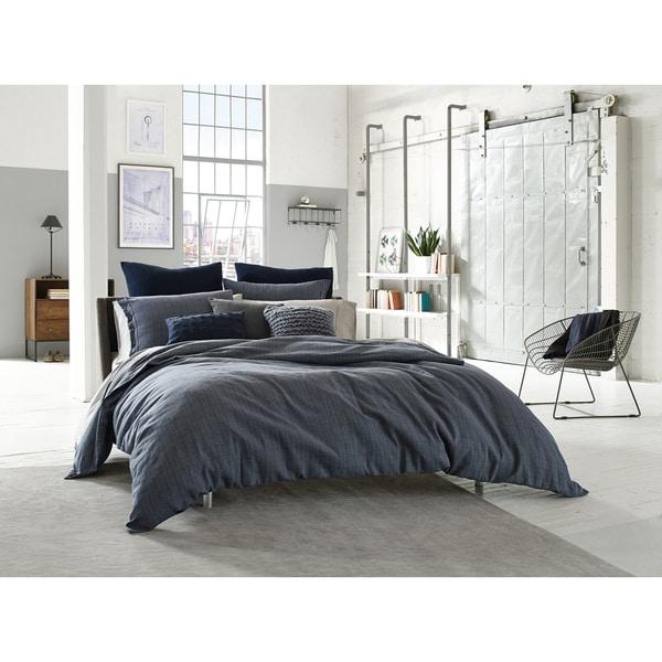 Kenneth Cole Douglas Blue Plaid Standard Pillow Sham