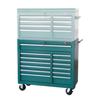 Excel Metal 13-Drawer Roller Cabinet (Option: Green)