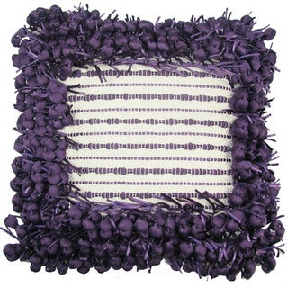 Design Accents Poly Nubs Funberry 18-inch x 18-inch 2-tone Border Pillow