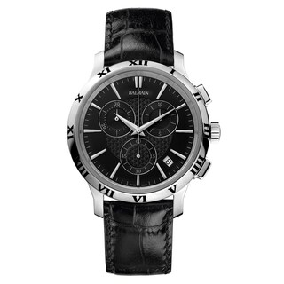 Balmain Classica Black Strap with Black Dial Leather Men's Watch B50613266