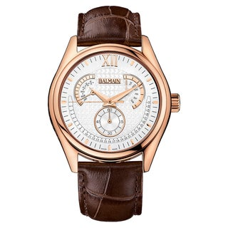 Balmain B72895222 Brown Leather Strap with Silver Dial Watch
