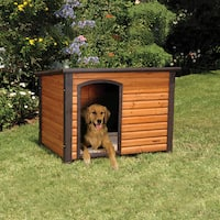 Precision Pet Outback Brown Wood Log Cabin Dog House