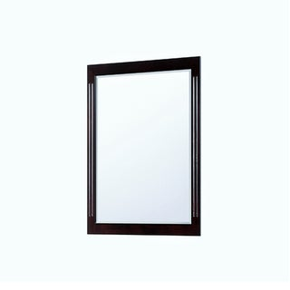 "Contemporary Espresso Wall Mirror (32"" x 36"")"