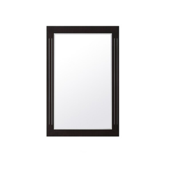 "Contemporary Espresso Wall Mirror (32"" x 20"")"