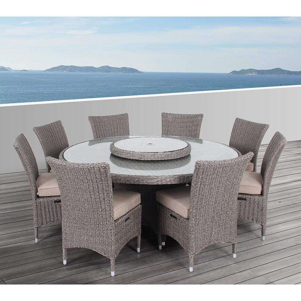 Genial OVE Decors Habra II Outdoor 9 Piece Dining Set